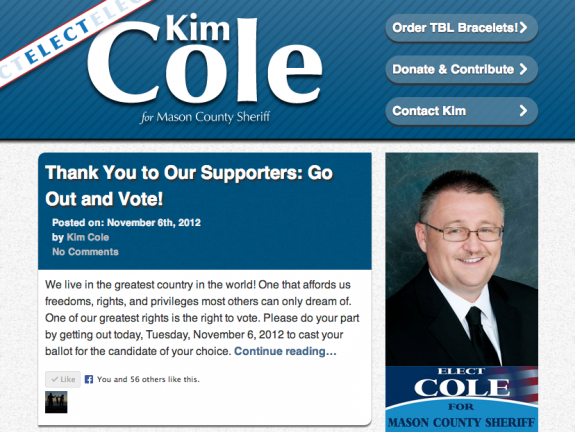 Kim Cole for Mason County Sheriff | Your 2012 Republican Candidate
