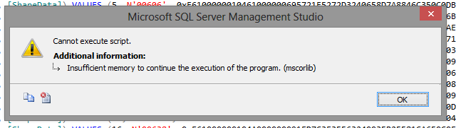 Cannot Execute Script