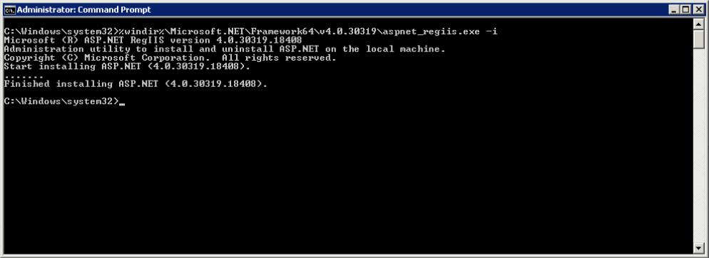 Reinstall ASP.NET in IIS